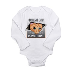 ceilingcat.jpg Long Sleeve Infant Bodysuit