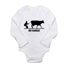 Ski Kansas Long Sleeve Infant Bodysuit