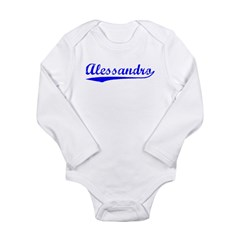 Vintage Alessandro (Blue) Long Sleeve Infant Bodysuit