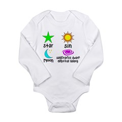 Astronomy for Smart Babies Long Sleeve Infant Bodysuit