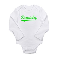 Vintage Daniela (Green) Long Sleeve Infant Bodysuit