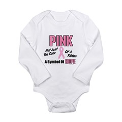 PINK Not Just A Color 3 Long Sleeve Infant Bodysuit