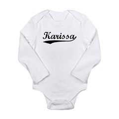 Vintage Karissa (Black) Long Sleeve Infant Bodysuit