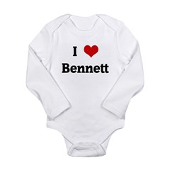 I Love Bennett Long Sleeve Infant Bodysuit