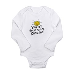 YiaYia's Sunshine Long Sleeve Infant Bodysuit