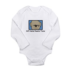 Anime Soft Coated Wheaten Terrier Baby Bodysuit Long Sleeve Infant Bodysuit