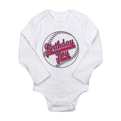 Baseball Birthday Boy Long Sleeve Infant Bodysuit