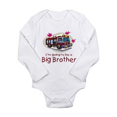 Big Brother Firetruck Long Sleeve Infant Bodysuit