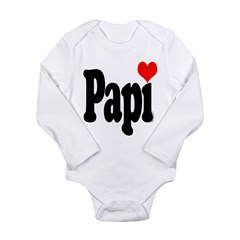 I love Papi Long Sleeve Infant Bodysuit