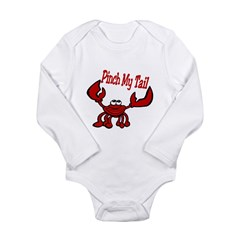 Pinch Me Smiling Crawfish Long Sleeve Infant Bodysuit