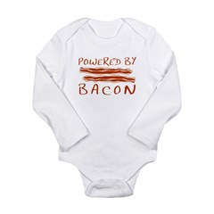Powered By Bacon Long Sleeve Infant Bodysuit