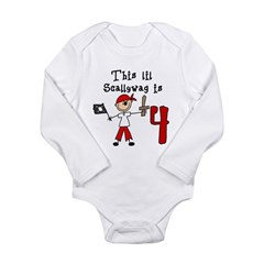 Stick Pirate 4th Birthday Long Sleeve Infant Bodysuit