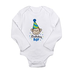 Birthday Boy - Monkey Long Sleeve Infant Bodysuit