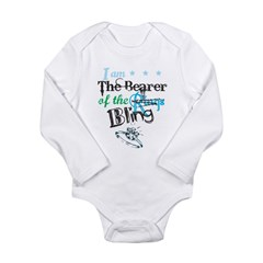 I am . . . The Bearer of The Bling Long Sleeve Infant Bodysuit