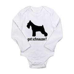 Got Schnauzer? Long Sleeve Infant Bodysuit