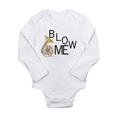 Blow My French Horn! Long Sleeve Infant Bodysuit