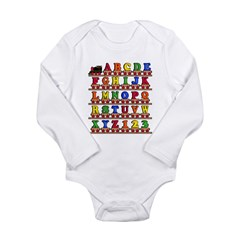 ABC Train Long Sleeve Infant Bodysuit