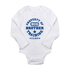 Property of Big Brother Train Long Sleeve Infant Bodysuit