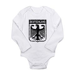 Deutschland Coat of Arms Long Sleeve Infant Bodysuit