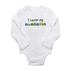 I Love My Wombmate Long Sleeve Infant Bodysuit