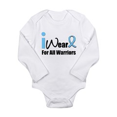 Prostate Cancer Warrior Long Sleeve Infant Bodysuit