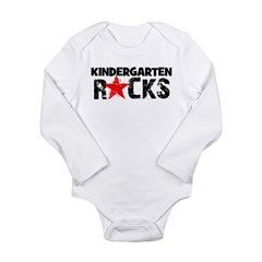 Kindergarten Rocks Long Sleeve Infant Bodysuit
