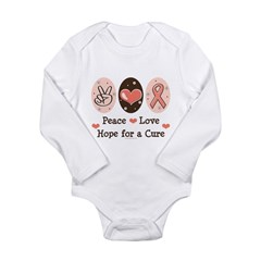 Peace Love Hope For A Cure Long Sleeve Infant Bodysuit