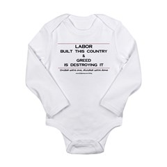 Labor Built The Country Long Sleeve Infant Bodysuit