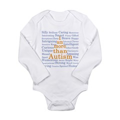 I am more than Autism Long Sleeve Infant Bodysuit