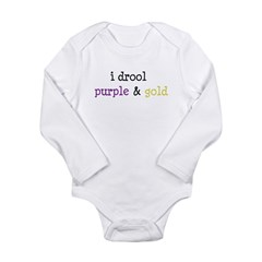 Geaux LSU Long Sleeve Infant Bodysuit