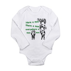 MooMoo HR.jpg Long Sleeve Infant Bodysuit