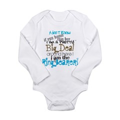 Big Deal Ring Bearer Long Sleeve Infant Bodysuit