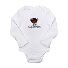 Baba's Little Monkey Long Sleeve Infant Bodysuit