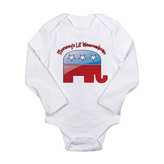 Mommy's Lil Weepublican Long Sleeve Infant Bodysuit
