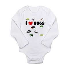 I Love Bugs () Long Sleeve Infant Bodysuit