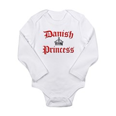 Danish Princess Long Sleeve Infant Bodysuit
