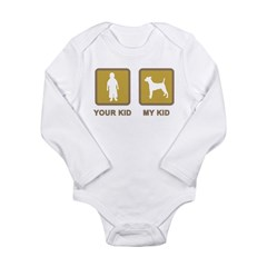 Smooth Fox Terrier Long Sleeve Infant Bodysuit