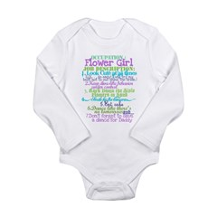 Occupation Flower Girl Lilac Long Sleeve Infant Bodysuit