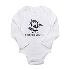 Exercise - Girls Guns Long Sleeve Infant Bodysuit