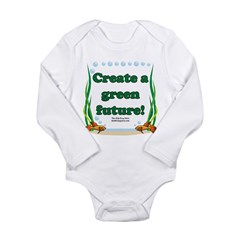 Green Future Long Sleeve Infant Bodysuit