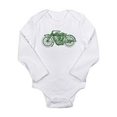 Vintage Motorcycle Long Sleeve Infant Bodysuit