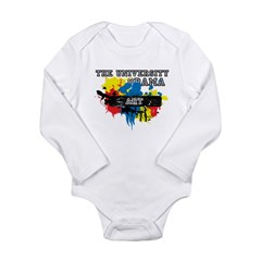 The University of Obama Art D Long Sleeve Infant Bodysuit