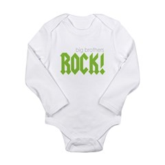 Big Brothers Rock Long Sleeve Infant Bodysuit