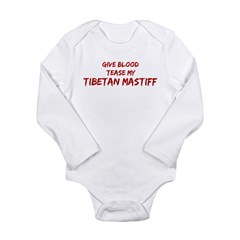 Tease aTibetan Mastiff Long Sleeve Infant Bodysuit