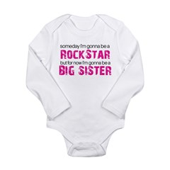 rockstar big sister Long Sleeve Infant Bodysuit