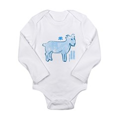 Chinese Horoscope (Goat) Long Sleeve Infant Bodysuit