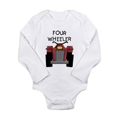 Four Wheeler Long Sleeve Infant Bodysuit