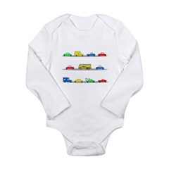Cars! Cars! Cars! Long Sleeve Infant Bodysuit