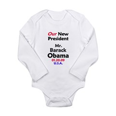 Mr. President Inauguration Obama Long Sleeve Infant Bodysuit