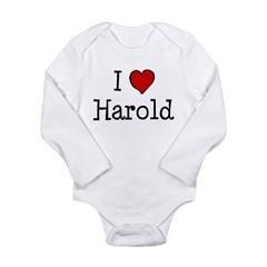 I love Harold Long Sleeve Infant Bodysuit